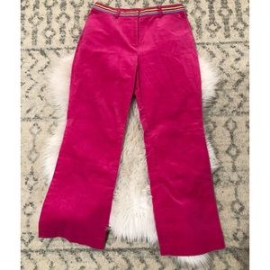 Lilly Pulitzer vintage pink cropped corduroy pants
